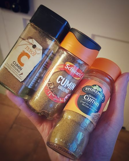 Yep, pretty standard. Now, which cumin shall I use today?