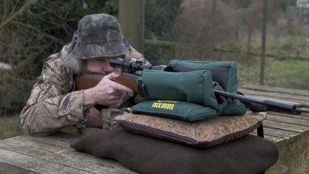 Shooting bag rests can be very useful for testing springer accuracy