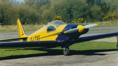 Designed as a more practical aerobatic machine, the short-wing, up-engined Fournier RF7 was denied c