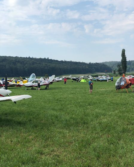 Fly-in visitors at Langenthal