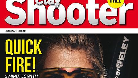 When is the June issue of Clay Shooter magazine available?