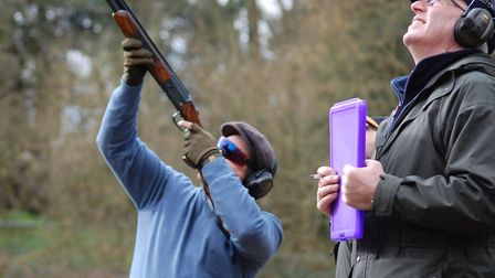 The charity clay shoot on Friday 9 July at the new Acorn Shooting ground CREDIT: Emily Damment