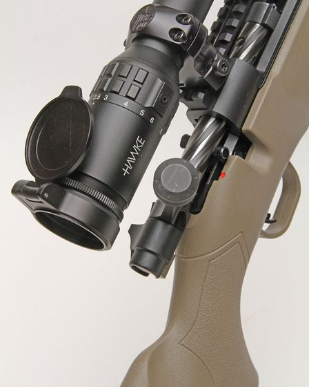Nice smooth bolt action and enlarged bolt knob that clears a scope well