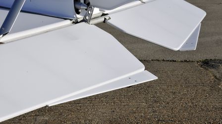 Port elevator tab is an adjustable trim - starboard one a servo tab that lightens control force