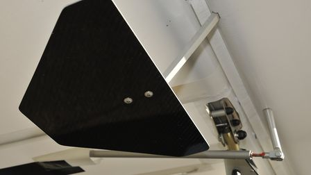 Aileron spades - aerodynamic surfaces ahead of the hinge line that give a servo effect, reducing con