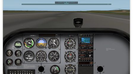 Same moment, captured from the cockpit