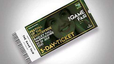 Buy tickets to two days of the Game Fair and get the third day completely free!