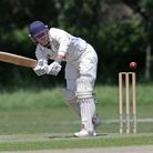 H Blogg of Woodford Wells during Gidea Park and Romford CC vs Woodford Wells CC, Shepherd Neame Esse