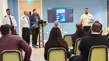 Officers delivered a training session to Ilford business owners in how to deal with shoplifting and anti-social behaviour.