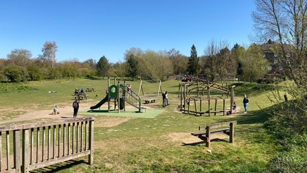 Play area for older children at Needham Lake in Suffolk