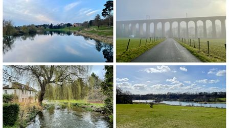 Brocket Hall, Digswell Viaduct, Tewin and Panshanger Park