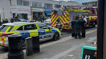 """An engineer was taken to hospital after a """"possible explosion"""" in a public toilet in Kilburn"""