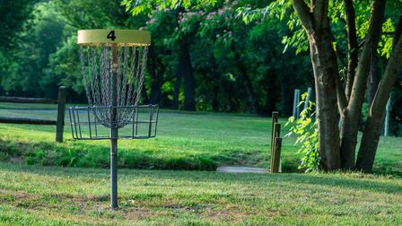 Disc golf is played much like traditional golf