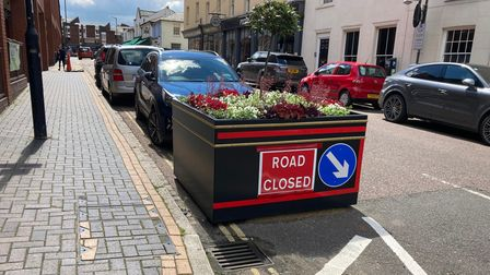 Planters have been introduced to spruce up the closed roads.
