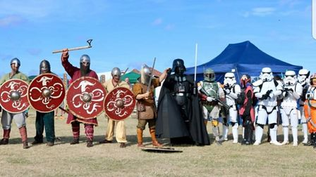 Vikings and Imperial Stormtroopers join forces at a previous Belton Fun Day.