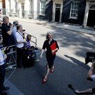 Liz Truss leaves 10 Downing street after a cabinet meeting in July 2019, the day after her appointment as trade secretary