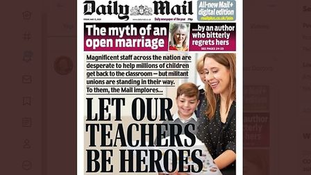 A picture of the Daily Mail front cover; Twitter