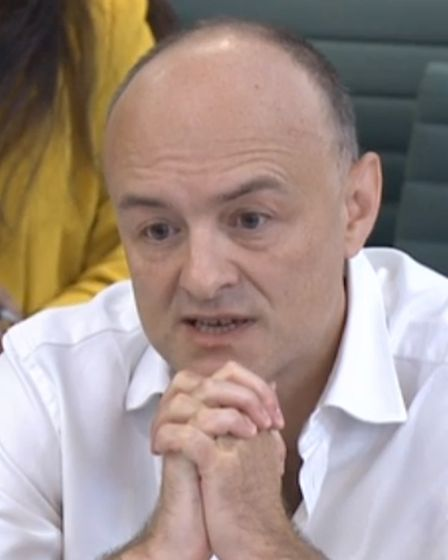 Dominic Cummings, former Chief Adviser to Prime Minister Boris Johnson, giving evidence to a joint i