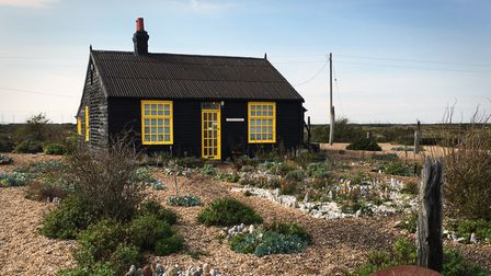 Prospect Cottage in Dungeness, Kent.