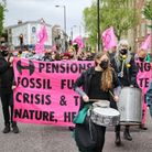 Local people gathered at Hackney Downs Park at noon and marched across Hackney for the climate.