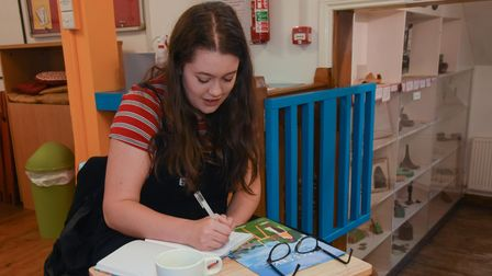 Nicole Sears taking part in The Bridges Creative Writing Group, which helps adults with mental healt