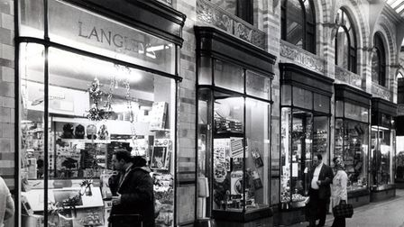 Langleys, Royal Arcade in 1976. Picture submitted