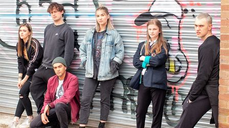 Ghosted will be performed outside in Great Yarmouth and Sheringham, pictured are the cast.