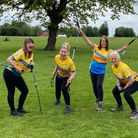 Nicky Dixon (l), Bianca Holman, Jan Taylor and Liz Irving (r) are training for the Yorkshire Three Peaks Challenge