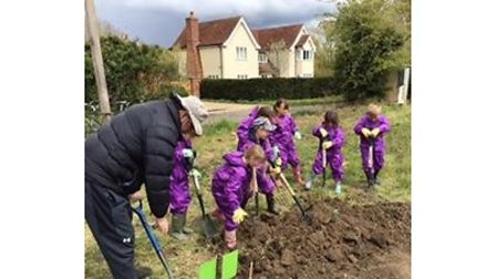 Children from Barley Barkway First Schools Federation have been enjoying their allotment