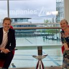Access Community Trust chief executiveEmma Ratzer receiving the special wellbeing award from Best Companies host Dan Walker.