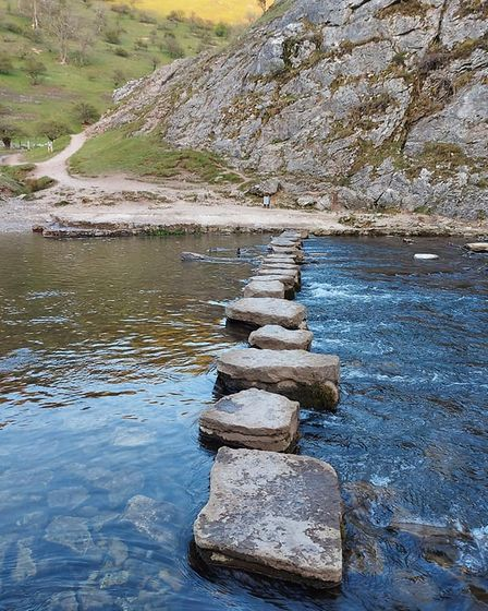 River Dove stepping stones