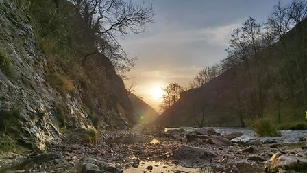 Dovedale sunset
