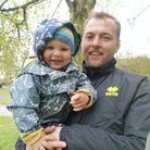 Liam Pink, captain of the Lucy Lavers, with his son Zander.