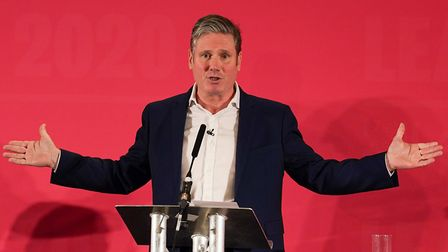 Sir Keir Starmer addresses the audience during a Labour Party Leadership hustings. (Photo by Ian For