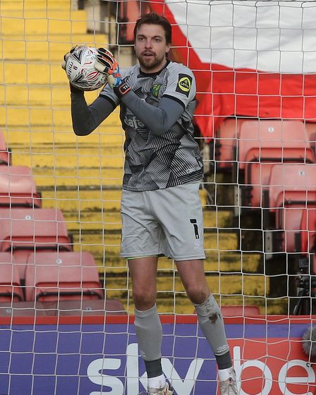 Tim Krul of Norwich in action during the FA Cup match at Oakwell, Barnsley Picture by Paul Chestert