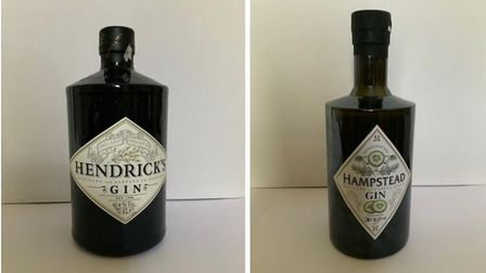The Hendrick's Gin and Hampstead Gin designs at the centre of a trademark dispute