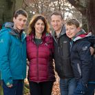 In memory of mother and wife Moira - Rob, Euan and Jamie will be taking part in the charity walk
