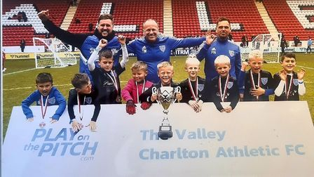 Eynesbury Rovers U7s won a tournament at The Valley, home of Charlton Athletic