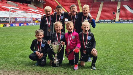Eynesbury Rovers U7s won a tournament at The Valley, home of Charlton Athletic.