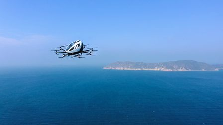 Pictur of drone in blue sky