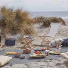 Picnic time on the beach
