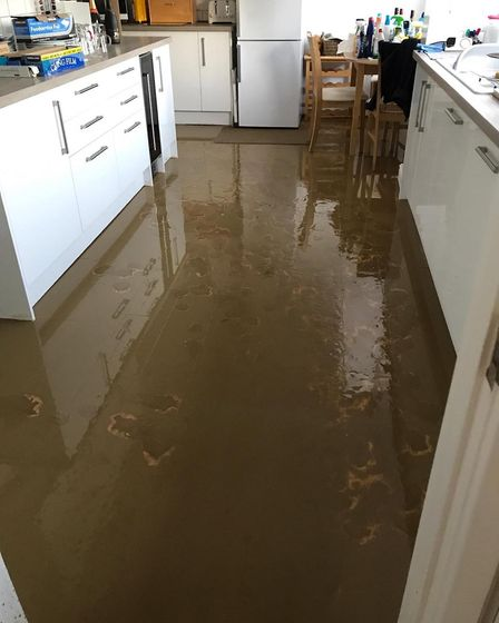 Inside Lorraine and Lee's home when the flooding happened (December 23)