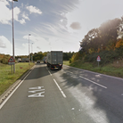 The collision is close to the Dock Spur roundabout