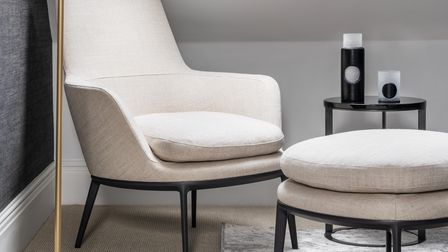 Monochrome used in a home office interior scheme in a Hampstead flat