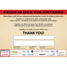 Certificate of thanks forCovid-19 volunteers