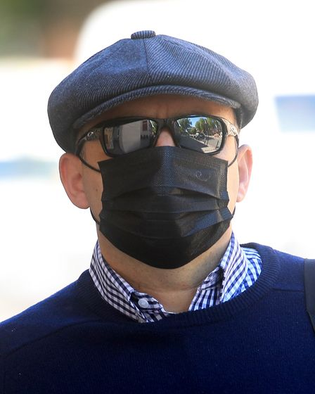 Pc Deniz Jaffer arrives at Westminster Magistrates' Court, London, where he is appearing charged wit