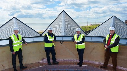 Felixstowe seafront cafe nears completion