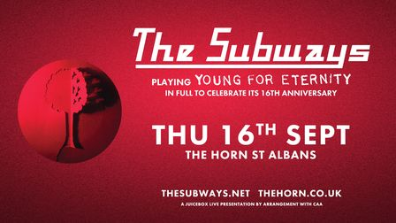 The Subways will beplaying Young For Eternity in full at The Horn on Thursday, September 16.