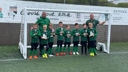 Drayton Jaguars under-8s after their County Plate cup final where they came runner-up