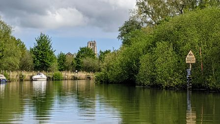 Approaching Beccles on the Waveney